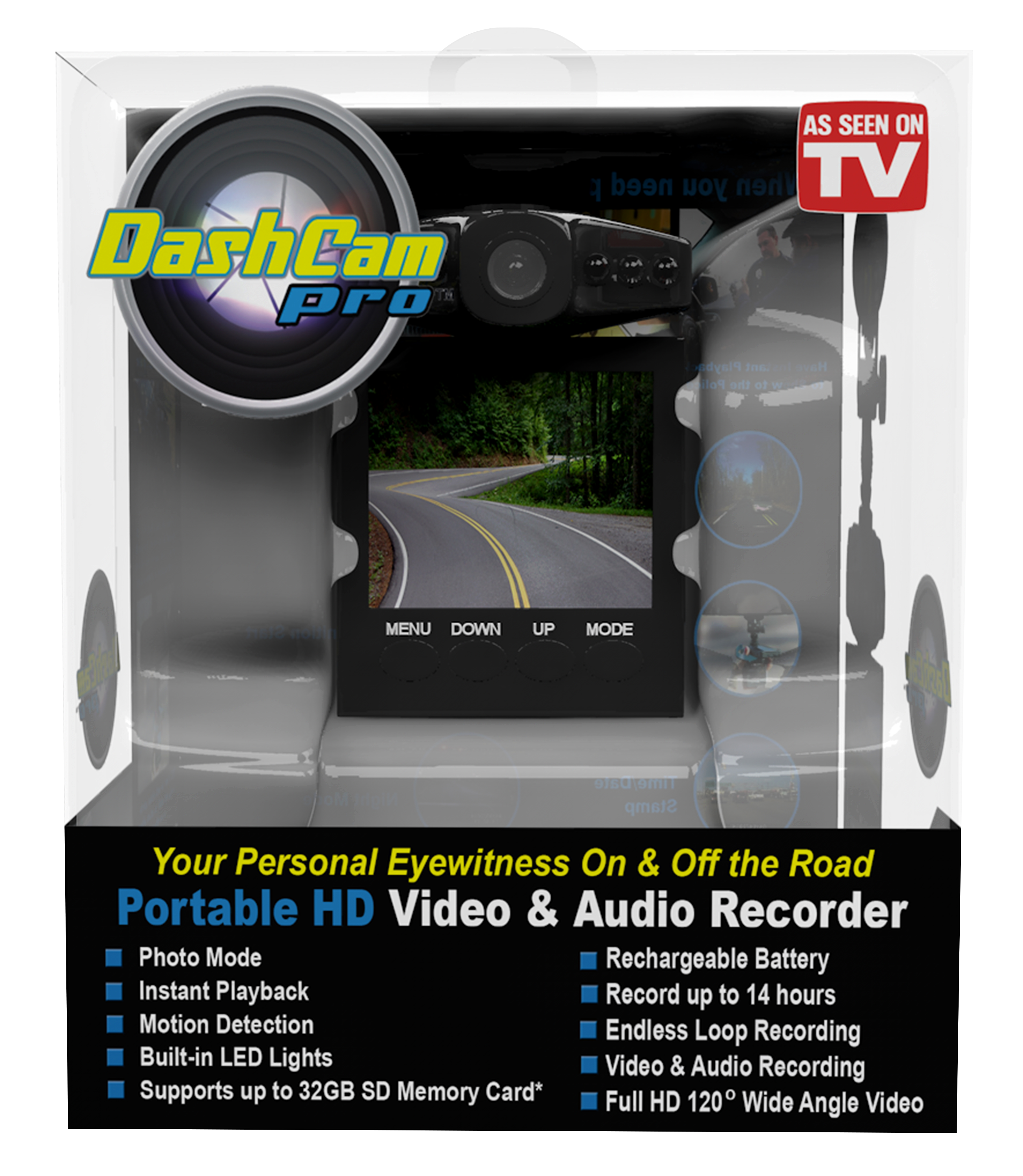 Dash Cam Pro | Security Camera For Your Car | InvenTel | As